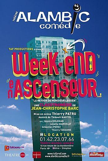 Week-end en ascenseur alambic comédie anne busnel juliette marcelat sebastien blanc anthony michineau thierry patru