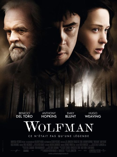 Wolfman joe johnston benicio del toro anthony hopkins emily blunt