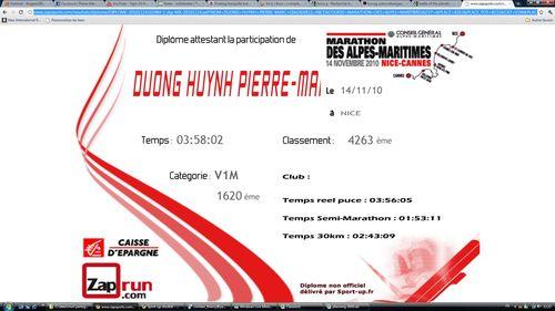 Diplome marathon nice-cannes 2010