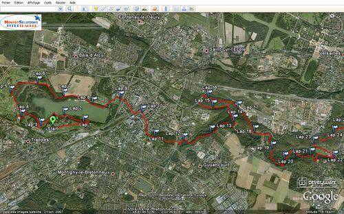 Eco-trail de Paris 2011 80 km 0-22 St Quentin en Yvelines - Buc