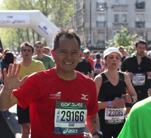 Giao marathon de paris 2011 gerald desereau