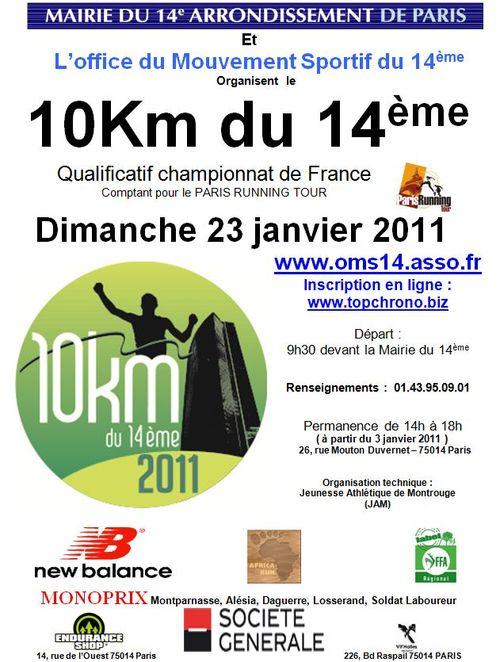Paris 10 km du 14eme 23 janvier 2011