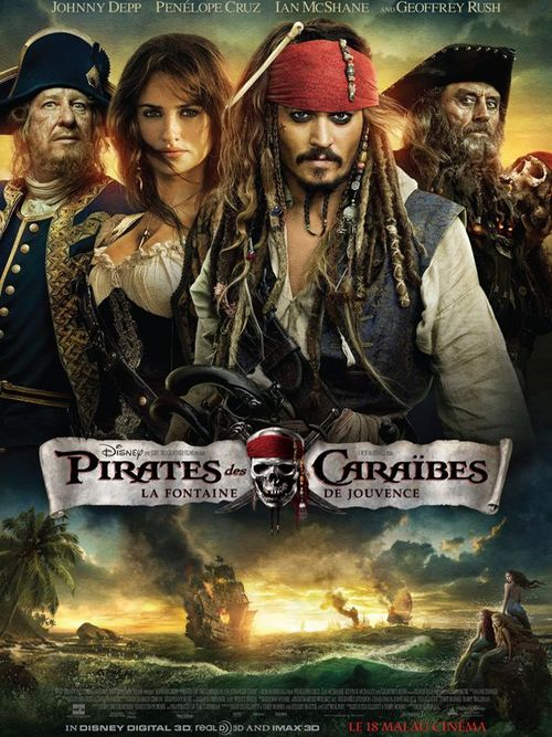 Pirates des caraibes johnny depp penelope cruz ian mcshane geoffrey rush rob marshall la fontaine de jouvence