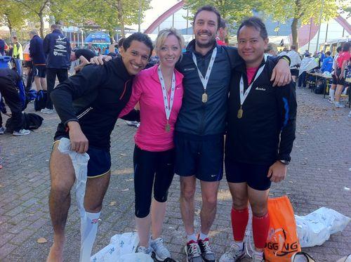 Othmane delphine sebastien giao semi-marathon d'amsterdam 2011