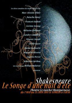 Songe d'une nuit d'ete william shakespeare guichet montparnasse william malatrat