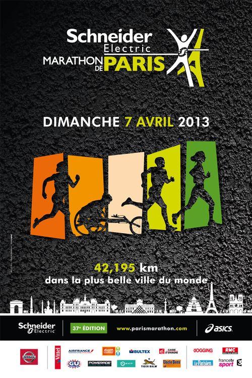 Marathon de paris 2013 affiche giao tigrou inzesentier