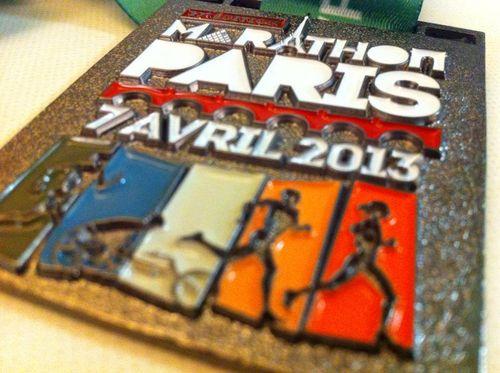 Marathon de paris 2013 medaille giao tigrou