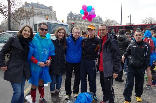 Marathon de paris 2013 giao tigrou baptiste adrien jean-pierre run reporter run giao