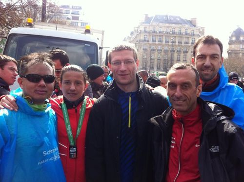 Marathon de paris giao tigrou benedicte running guy jean-pierre run run gianny