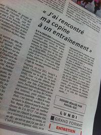 L'equipe marathon de paris giao Tigrou 2013 article