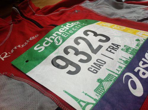Marathon de paris 2013 giao tigrou dossard runnosphere
