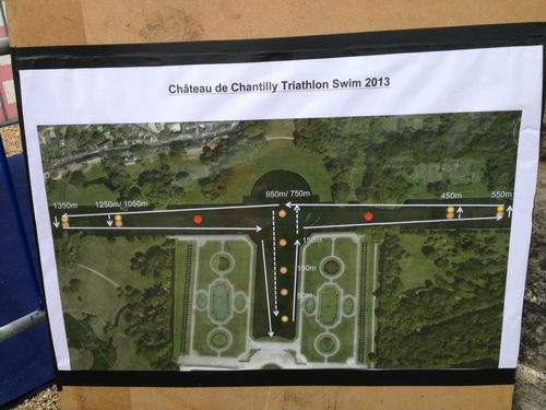 Parcours triathlon chantilly
