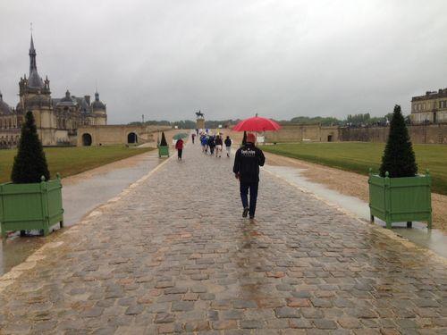 Chateau de chantilly pluie