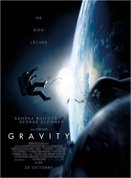 Affiche gravity sandra bullock george clooney alfonso cuaron