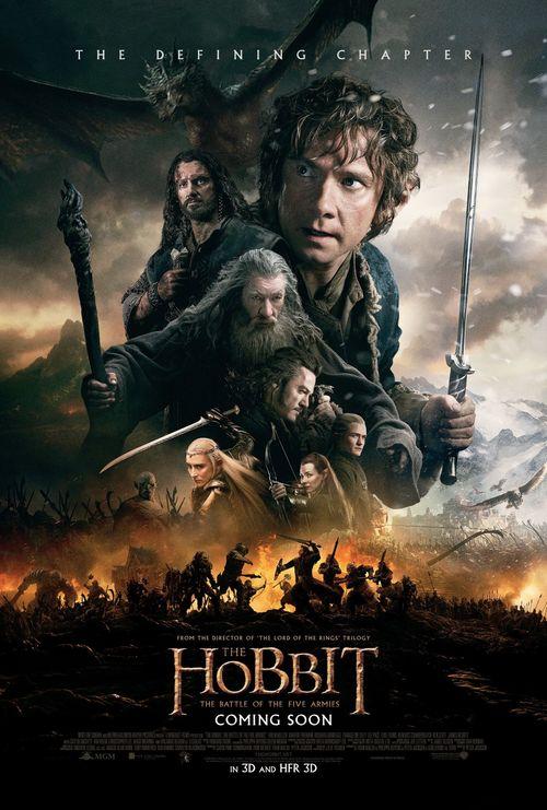 Le hobbit la bataille des cinq armees affiche martin freeman peter jackson