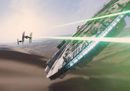 Faucon_Millenium_et_Chasseur_TIE_Teaser_Star_Wars_7